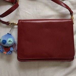 Zara red leather bag