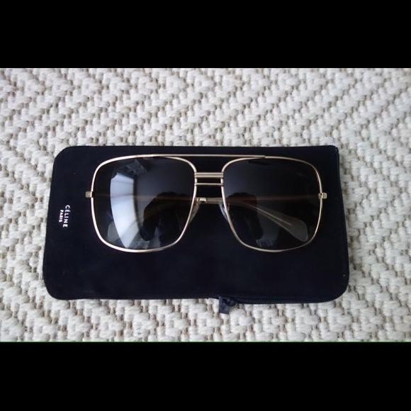 c79f248ff773 ... Celine Accessories 41808s Gold Aviator Sunglasses Poshmark