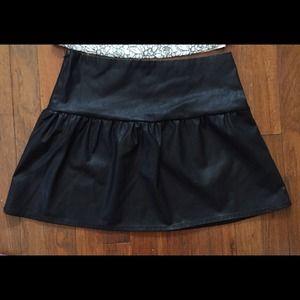 ZARA faux leather skirt.