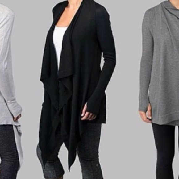 63% off lululemon athletica Sweaters - Lululemon black sweater ...