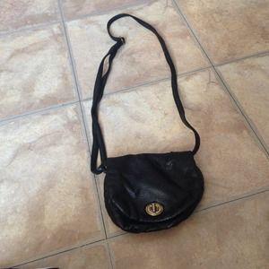 Black cross body purse
