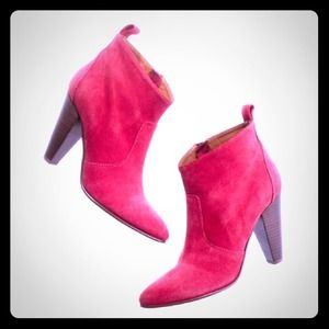 Madewell The Old Town Boot Vibrant Goji Suede 7