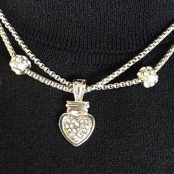 Be Seen Sales Jewelry - NEW** Crystal Heart Necklace : Earring Set