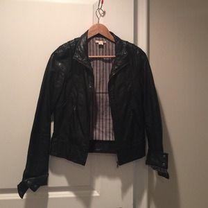 Black pleather jacket Sz S
