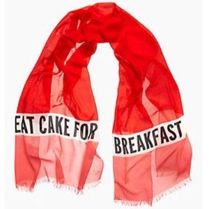 NWT kate spade eat cake for breakfast scarf