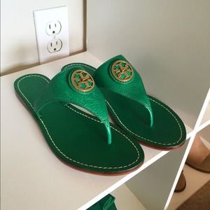 Tory Burch Shoes - Tory Burch Sandals Green