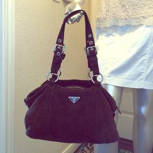 prada tessuto wallet - 89% off Prada Handbags - Authentic Prada brown chocolate suede ...