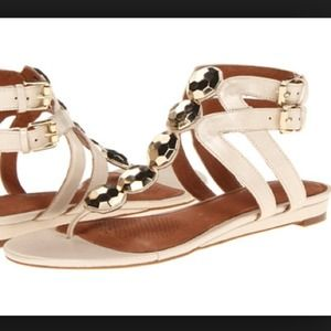 Corso Como Shoes - *WAS $50* Corso Como Dazzle gladiator cream sandal