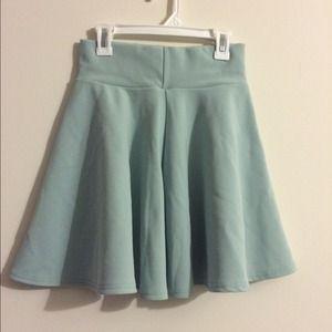 Mint green high waisted skirt