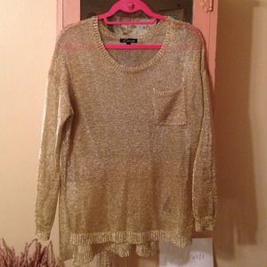 Gold lightweight sweater