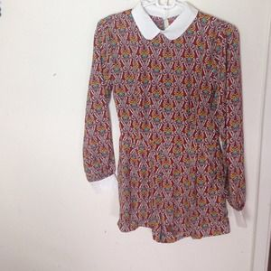 Boohoo Other - Boohoo official 60s playsuit collar size us 4 Au 8