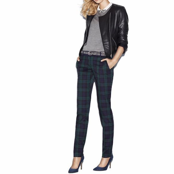 53% off LOFT Pants - LOFT Marisa Plaid Ankle Pants from Kelli's ...