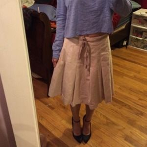 The GAP pale pink pleated skirt
