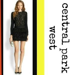 Central Park West Dresses & Skirts - Central Park West Silk & Lace Skirt