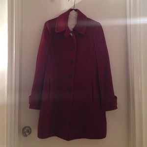J Crew dark red coat
