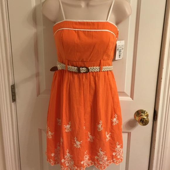 Orange And White Summer Dresses - Missy Dress