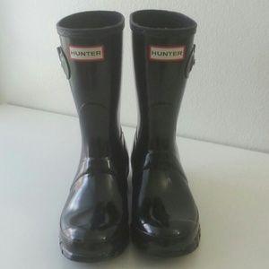 Hunter Black Waterproof Boots