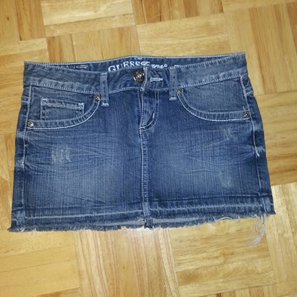 70 guess dresses skirts guess denim destroyed
