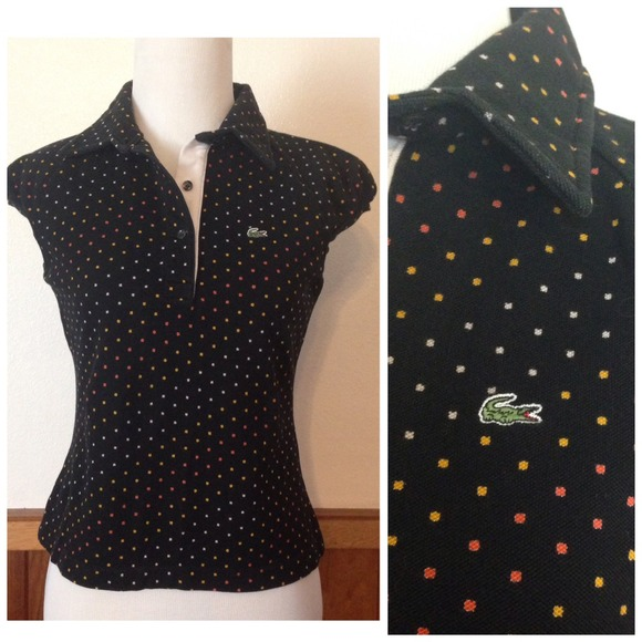 eb2cb944cd Vintage Lacoste black button up