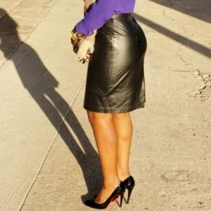 Genuine Leather Skirt