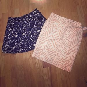 2 skirt bundle forever 21 pencil and flared XS