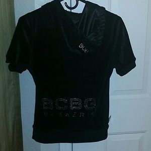 BCBGMaxAzria Jackets & Coats - BCBGMAXAZRIA SHORT SLEVE HOODIE