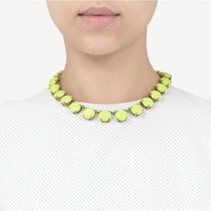 {24HrSale}J.Crew yellow neon stone necklace