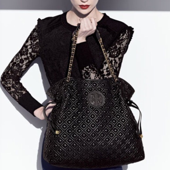 21% off Tory Burch Handbags - Marion Quilted Slouchy Tote ... : marion quilted - Adamdwight.com