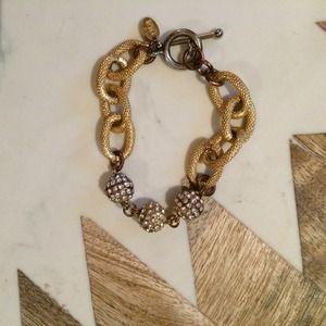 oia jules Jewelry - Oia Jules rhinestone pave ball bracelet