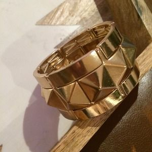 Jewelry - Gold studded cuff bracelet