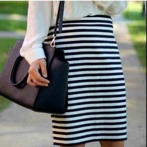 NEW Ann Taylor Striped Pencil Skirt