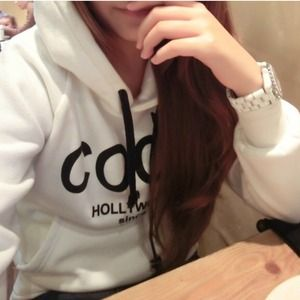 Classic chic hoodie (white and grey)