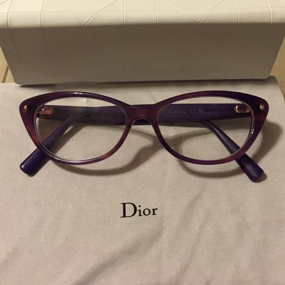 4b05360369a6 Dior Accessories - Dior purple cat eye glasses