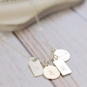 Silver Collection Tag Necklace