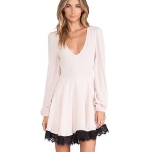 brand new lovers + friends pink shimmy dress xs