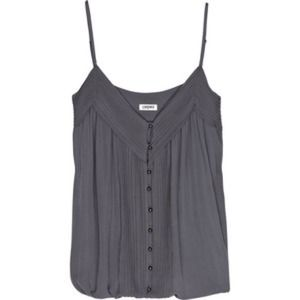 L'Agence Pleated silk-georgette camisole top