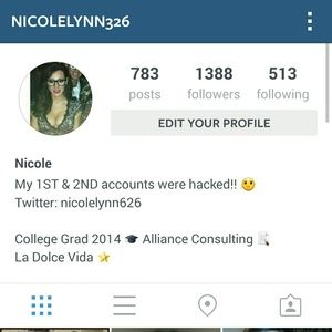 FOLLOW me on Instagram! @nicolelynn326