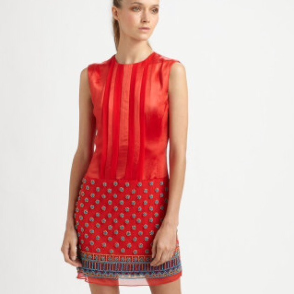 39% off Nanette Lepore Dresses & Skirts - Nanette Lepore red silk ...