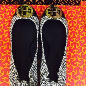 TORY BURCH flats in TWEED!