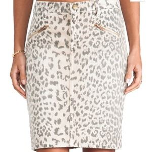🎉HP🎉 NEW!!! Current/Elliott pencil leopard skirt