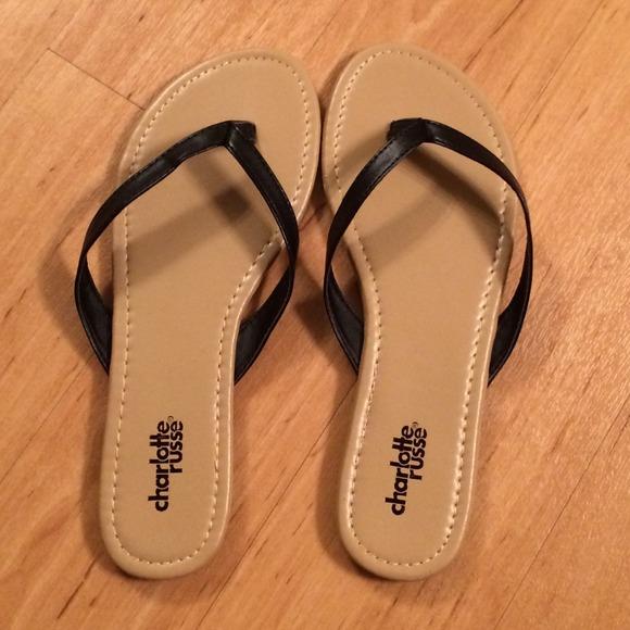846de0e21627 Charlotte Russe Shoes - Black Thong Flip Flops NWOT