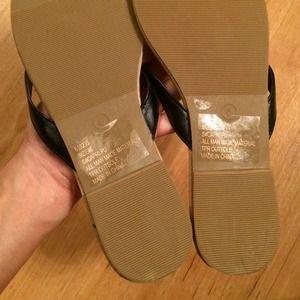 ed14f17fad04 Charlotte Russe Shoes - Black Thong Flip Flops NWOT
