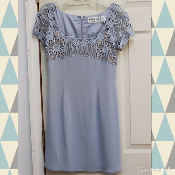 Alyce Paris Dresses   One Of A Kind Light Blue Flapper Style Prom ...