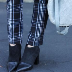 Stylemint Pants - Black & White Plaid Pants