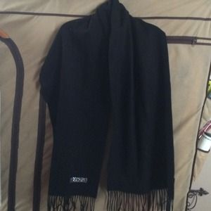 Moschino Black Merino Wool Scarf