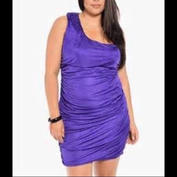 1b163837c5e Sexy purple one shoulder dress 💜