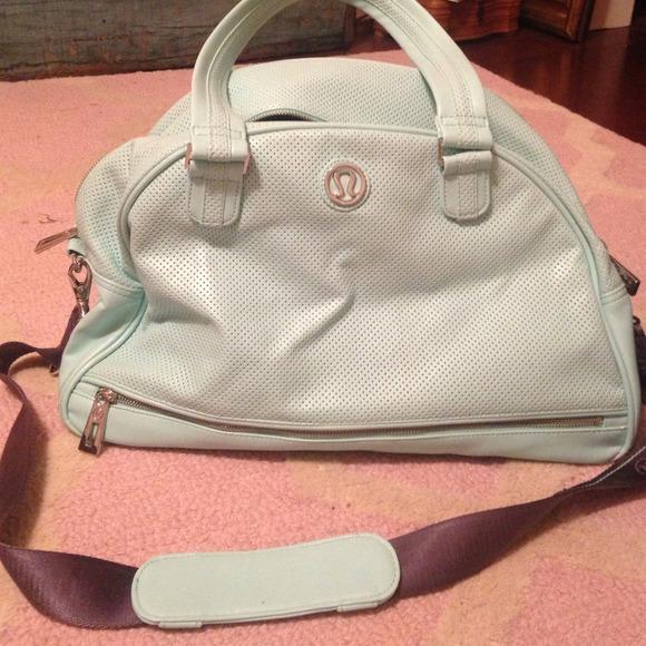 447e65b1d2 lululemon athletica Handbags - Mint green lululemon gym bag