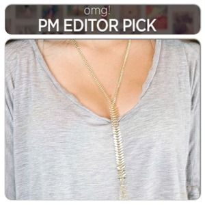 PM Editors PICK gold Fish Bone Body Chain
