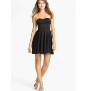 Scuba material black party dress