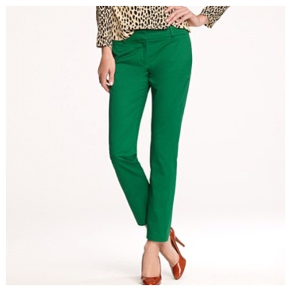 89% off J. Crew Pants - SOLD J.Crew Cafe Capri pants in green from ...